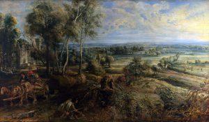 早朝のステーン城の風景