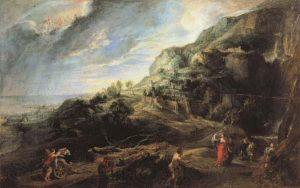 パイエケスの島のオデュッセウス