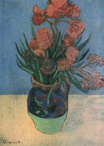 キョウチクトウのある花瓶