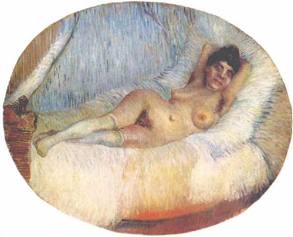 ベットの上の裸婦