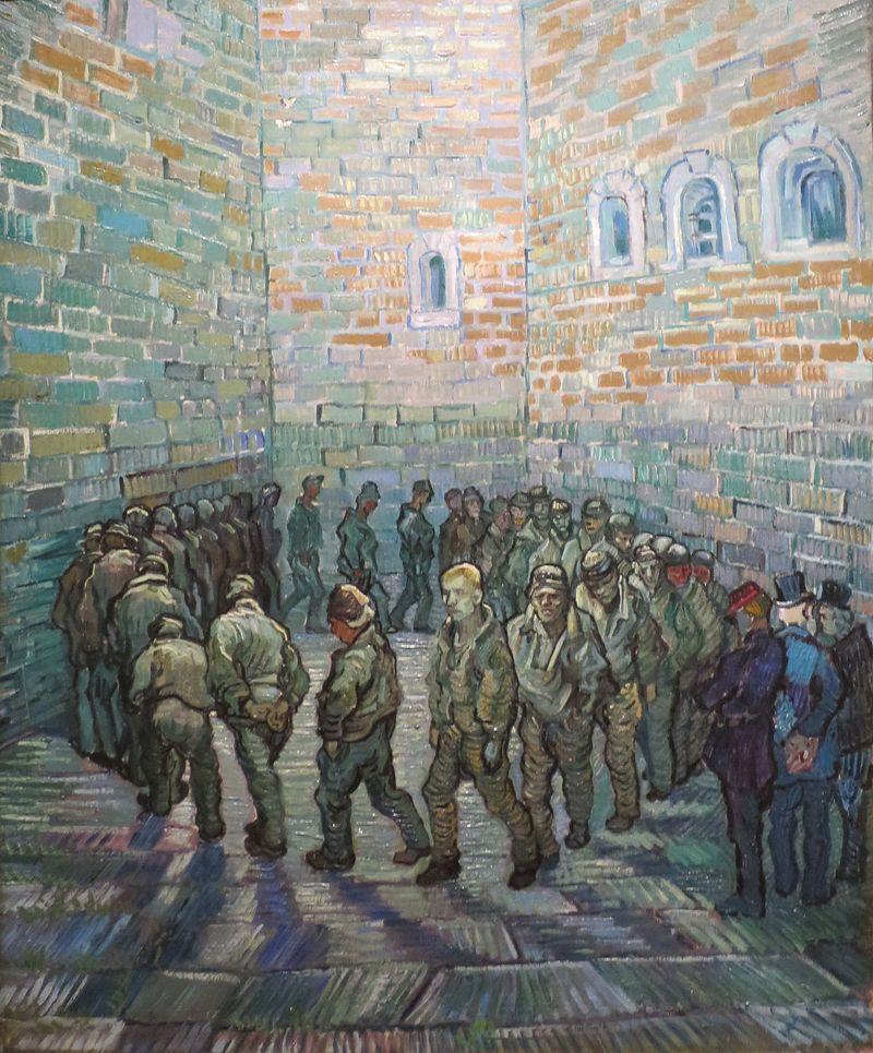 刑務所の中庭(囚人の運動:ドレを模して)