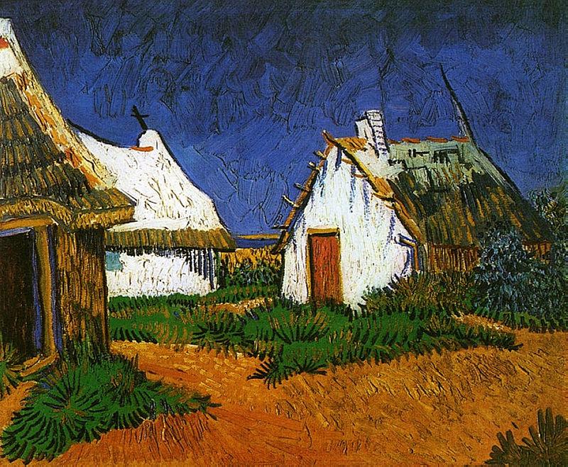 800px-Van_Gogh_-_Drei_weiße_Hütten_in_Saintes-Maries