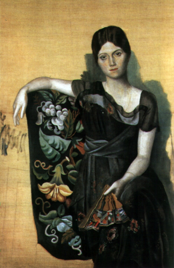 肘掛け椅子に座るオルガの肖像