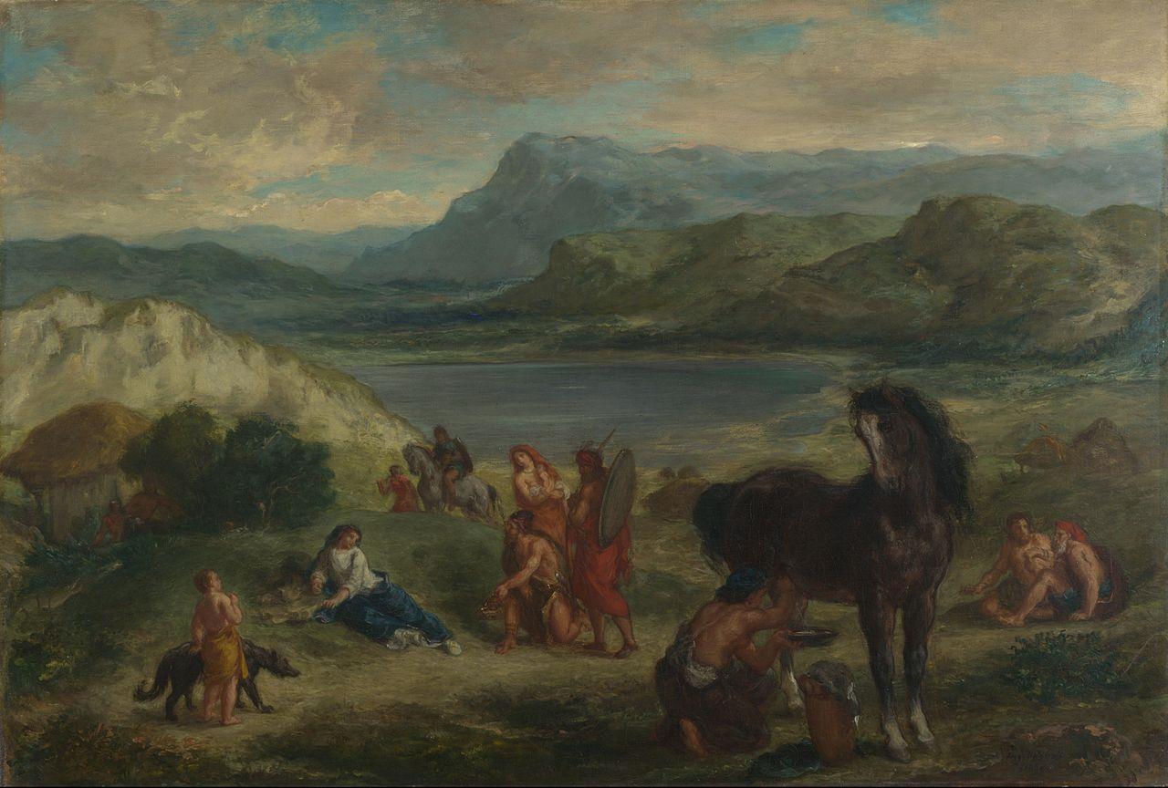 スキタイ人たちのもとに追放されたオヴィディウス