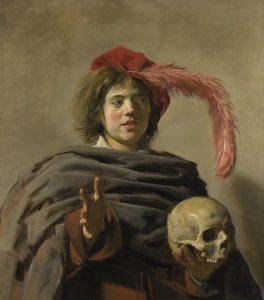 頭蓋骨を持つ若者