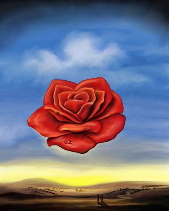 瞑想するバラ