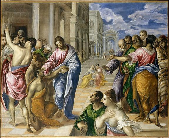 盲人を癒すキリスト