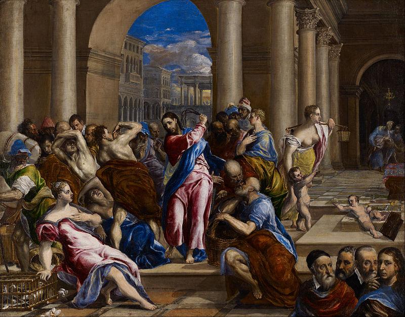 神殿から商人を追い払うキリスト(1570年)