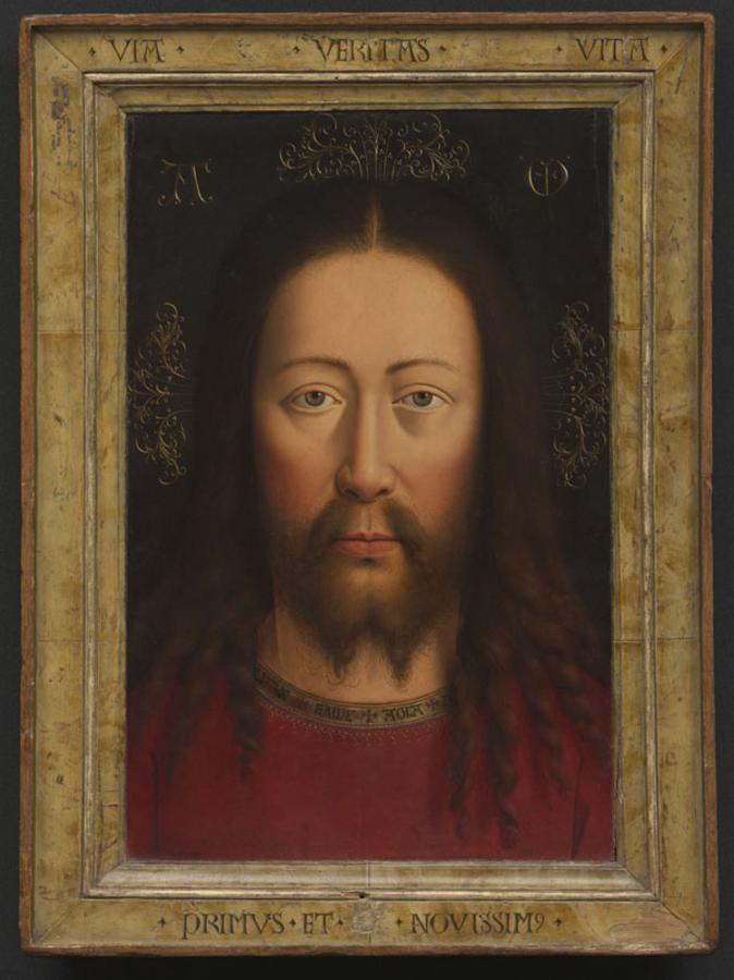 Eichenholz Jan van Eyck [um 1390 - 1441] Objektmaß 50,6 x 37,3 cm (mit origin. Rahmen)Inventar-Nr.: WAF 251