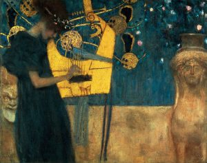 Klimt, Gustav. 1862ñ1918.  ìDie Musikî, (The Music), 1895.  On canvas, 37 ◊ 44.5 cm.