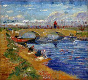ヴィゲラ運河にかかるグレーズ橋