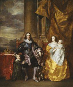 チャールズ1世とヘンリエッタ・マリアと2人の子供