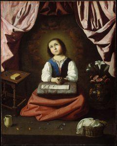 祈る幼い聖母