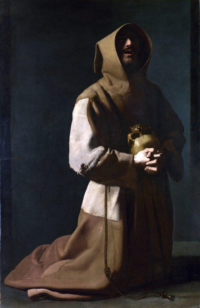 瞑想する聖フランシスコ(ナショナル・ギャラリー)