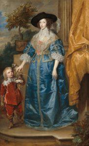 女王ヘンリエッタ・マリアと小人ジェフリー・ハドソン