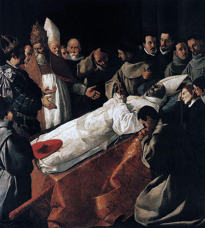 棺架に横たわる聖ボナヴェントゥーラ