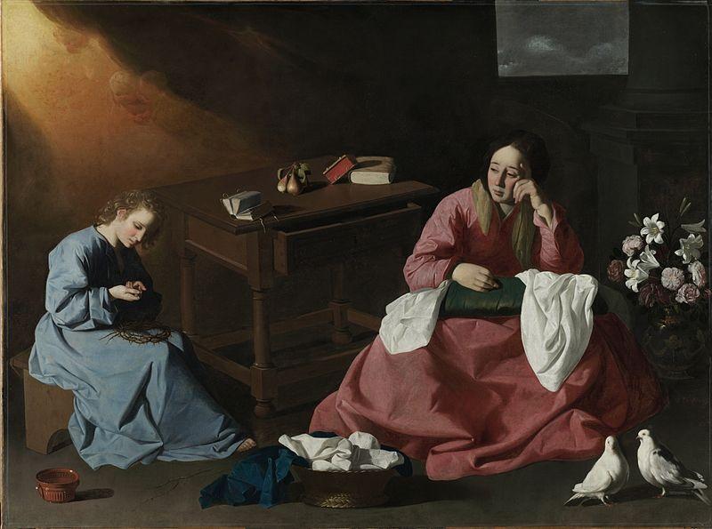 ナザレの家の聖母とキリスト