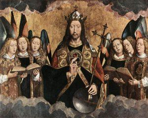 奏楽の天使らに囲まれたキリスト