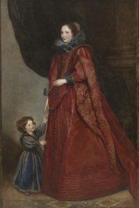女性と子供の肖像画