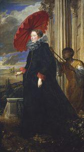 エレーナ・グリマルディ・カッタネオ伯爵夫人の肖像画