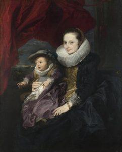 女性と子供の肖像画(ナショナル・ギャラリー)