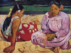 タヒチの女(浜辺にて)