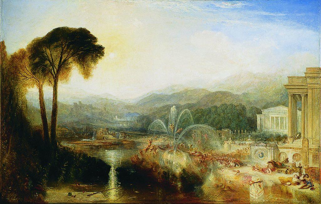 インドレンス城の噴水