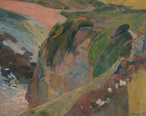 崖の上のフラジェレ演奏者