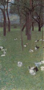 雨の後(セントアガタの鶏のいる庭)