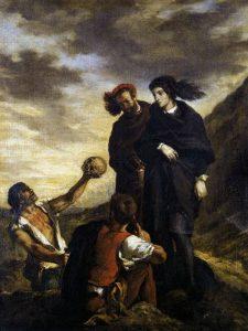 墓場に立つハムレットとホレイシオ