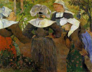 四人のブルターニュの女の踊り(雑談をするブルターニュの女達)