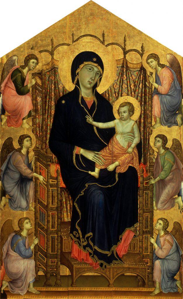 玉座の聖母子と6人の天使(ルチェライの聖母)