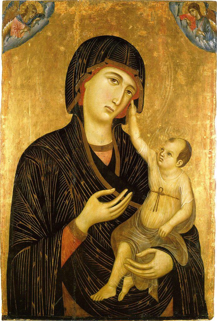 聖母子と二天使(クレヴォレの聖母)