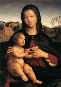 本を持つ聖母と幼子