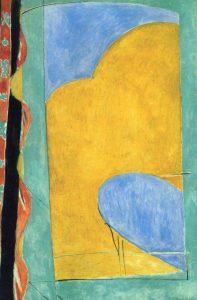 黄色いカーテン