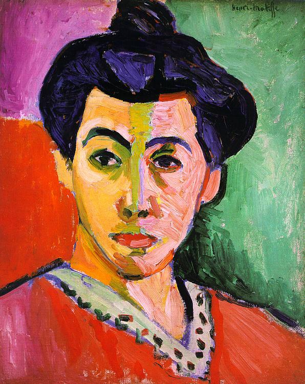 緑の筋のあるマティス夫人の肖像
