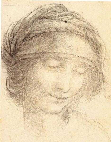 聖アンナの頭部素描