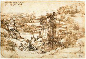 サンタ・マリア・デラ・ネーヴェの風景素描