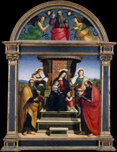 玉座の聖母子と五聖人