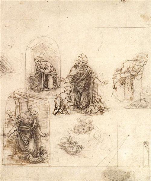 キリスト降誕のための素描