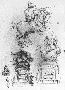 トリヴルツィオ騎馬記念像のための素描