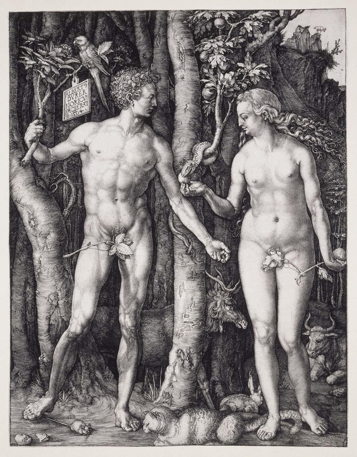 アダムとエヴァ(銅版画)》アルブレヒト・デューラー|MUSEY[ミュージー]