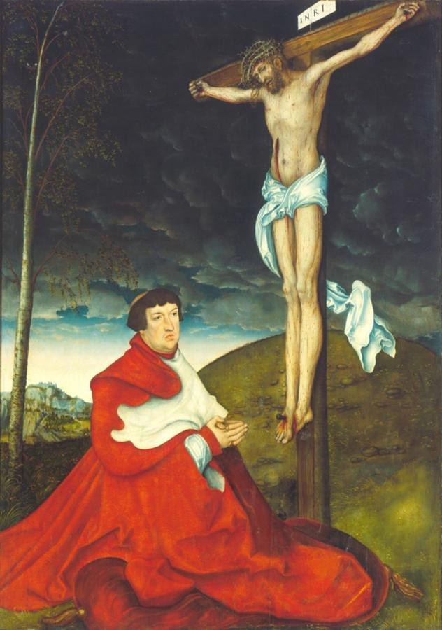 十字架の下のマインツ大司教アルブレヒト・フォン・ブランデンブルク