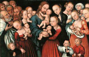 子供たちを祝福するキリスト