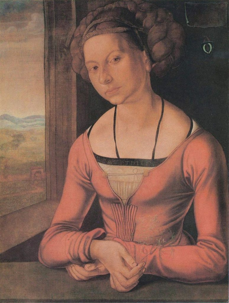 髪をほどいた若い女性の肖像・髪を結い上げた若い女性の肖像