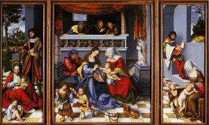聖家族の三連画(トルガウ祭壇画)