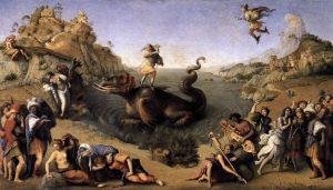アンドロメダを救うペルセウス