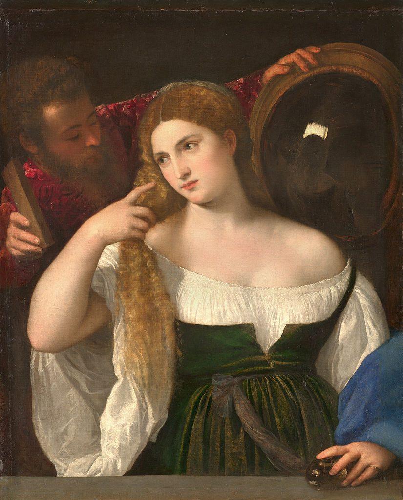 鏡のある女性の肖像