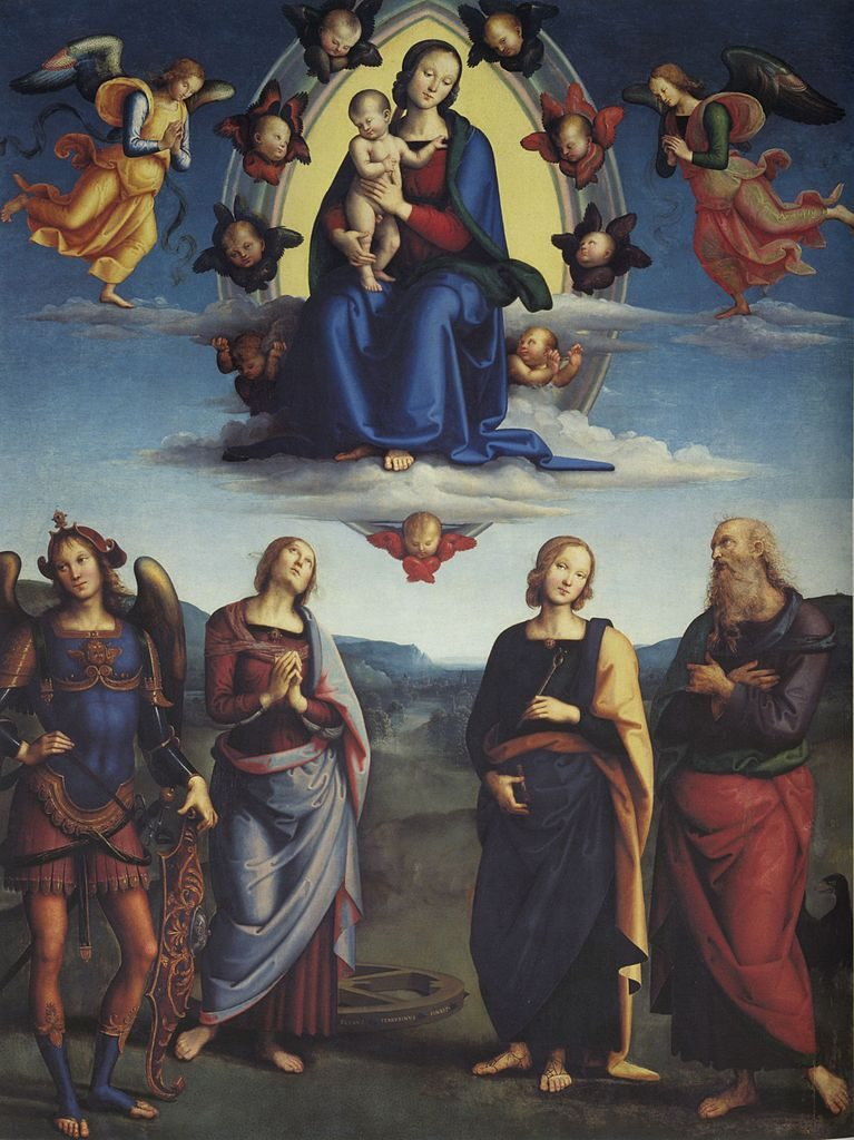 栄光の聖母子と四聖人