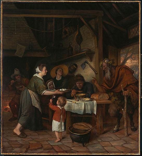 サテュロスと農民の家族